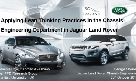 07 Ahmed Al-Ashaab (Cranfield University) – Applying Lean Thinking in Jaguar Land Rover