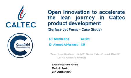 10 Ahmed Al-Ashaab (Cranfield University) – Open Innovation to Accelerate the Lean Journey in Caltec